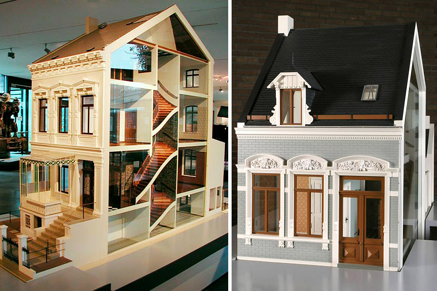 Models of two Bremen houses, photograph: Sigrid Sternebeck, Focke Museum