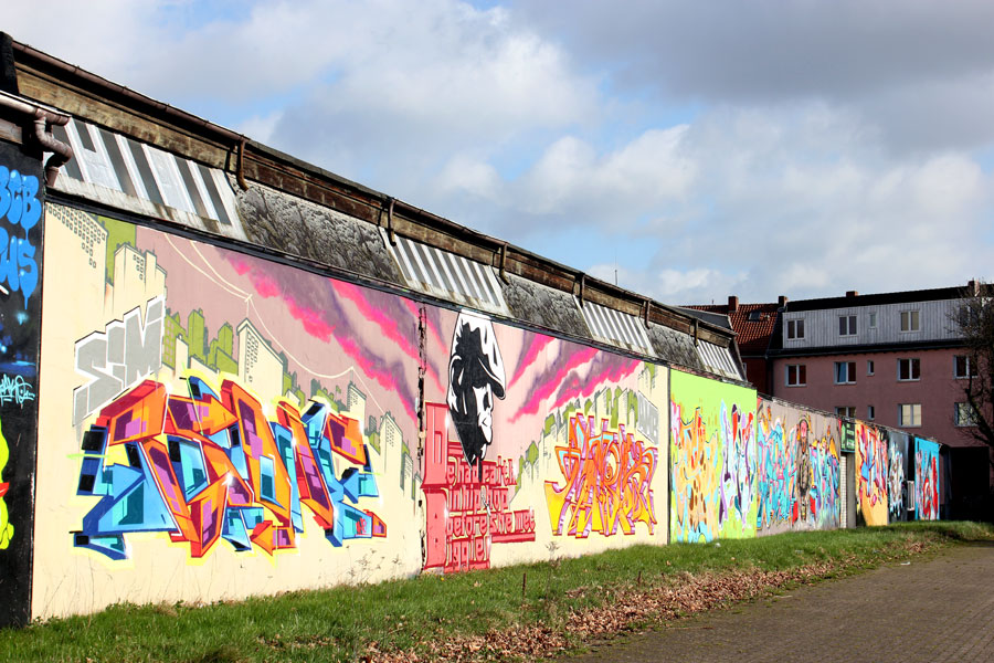 """Legal Wall"" in Woltmershausen"