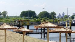 Sand and beaches on the Walle and Weser rivers …